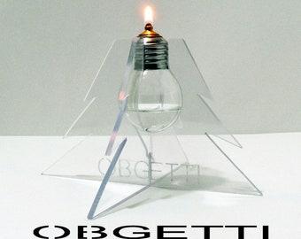 Oil Lamp – Lantern – Light Bulb – Light Bulb Oil Lamp – Recycling Light Bulbs – Light Bulb Recycling – Recycle Light Bulbs – Creative Lamp