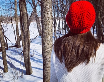 Crochet Slouchy Hat | iHat Puff Slouch