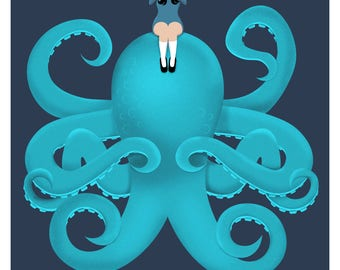 Girl and Octopus