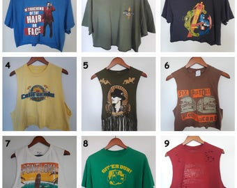 crop tops, graphic tee, old T-shirt