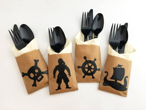 & Pirate Cutlery Bags Pirate Party Decorations Pirate