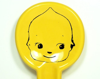 spoon rest with a kewpie cabeza shown here in Lemon Butter - Made to Order / Pick Your Colour