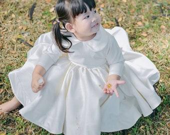 Ivory Flower Girl Dress, Girl Dress, Birthday Dress, Party Girl Dress