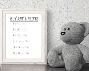 Personalized Nursery Wall Art Set Of 4 SPECIAL, Buy Any 4 Fine Art Prints, Paris, Vintage, Hot Air Balloons And More, 6 Sizes- 5x7 - 24x36