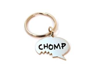 Chomp Me mordre porte-clé - fermeture éclair Foodie mignon tirer - Chomp discours charme de bulle d'air - nourriture drôle cadeau d'amant - cadeau moins de 10 ans - prêt à expédier