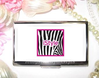Business Card Holder, Hairdresser's Card Holder, Business Card Case, Stainless Steel, Card Case,  Credit Card Case, Hairdresser.