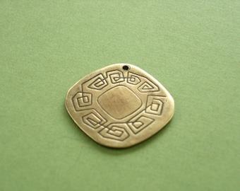vintaj raw brass pathway pendant