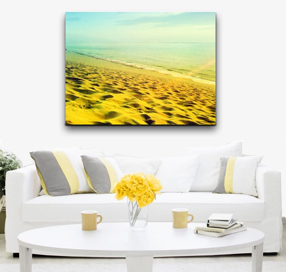 Beach Photography Wall Art Sunset Photography Retro Beach