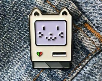 Meowcantosh enamel lapel pin