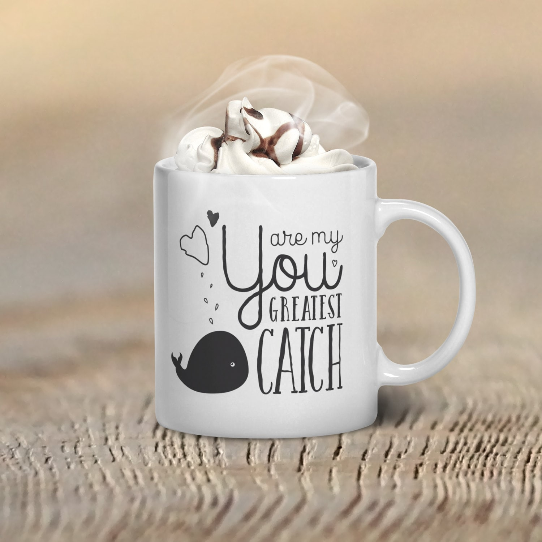 Valentines Day Mug Whale Coffee Mug Cute Coffee Mug Quote