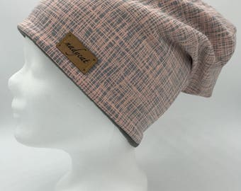 Rose Stripes beanie (inside fleece)