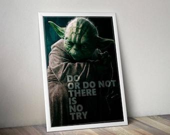 Star wars Poster Quote, Yoda poster, Yoda art , Yoda quote print, star wars print, yoda gift, star wast home decor, star wars prints