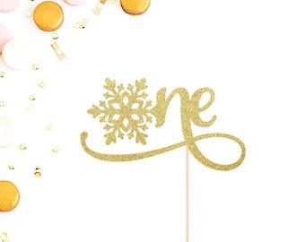 First Birthday Cake Topper | Snowflake Cake Topper | One Cake Topper | Snowflake One Topper | Winter Onederland Topper | Little Snowflake