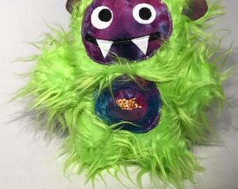 Lime Green Crazy eye Munchie Monster!