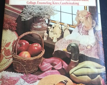 Vintage crafts book Jamboree, assorted crafts book, jewelry making crochet quilting woodwork papercrafts
