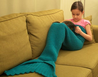 Children's Mermaid Tail CROCHET Pattern, for ages 3-7, INSTANT DOWNLOAD