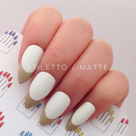 Modern White Nails With Gold Tips Adornment - Nail Art Design Ideas ...