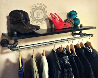 pipe Rack, Shelf Rack, Clothing Rack, Industrial rack, Steampunk Decor, Store Rack, Store Shelf, Store Display, Closet Organizer