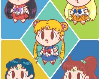 OoO Sailor Moon Character Stickers