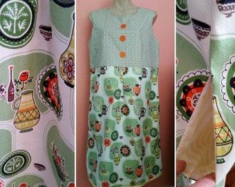 Bertha Baxter Very Feminine 1950's Vintage Fabric Tea Dress Size 16