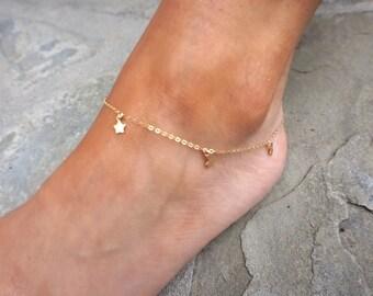 Babystars Anklet // 14k Gold Filled // Au Courant x Sam Ozkural Jewelry