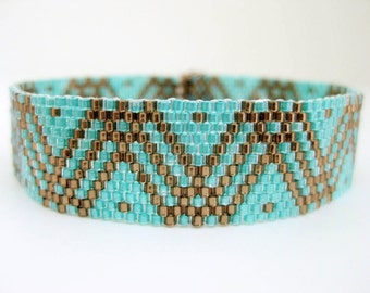 Peyote Pattern - Dots and Lines - INSTANT DOWNLOAD PDF - Peyote Bracelet Pattern - Geometric Pattern - One Drop Even Peyote Stitch