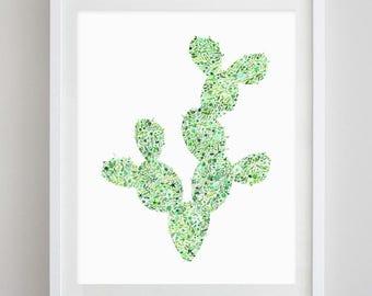 Cactus 2 Floral Watercolor Art Print