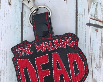 The Walking Dead, Zombies, Snap Tab, Keychain, Key Fob, Luggage Tag, Zipper pull, Bag Tags, Backpack, Purse