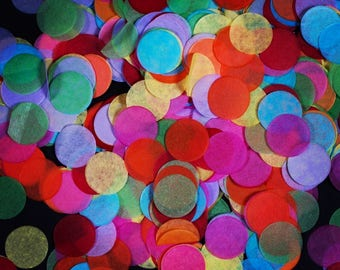 Red, Yellow, Pink, Green, Purple, Orange and Blue 'Rainbow' Tissue Paper Confetti