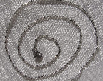 Necklace 45cm chain steel stainless link chain 3x2mm nonallergic * IN3