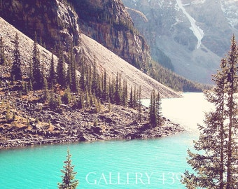 Banff Lake Louise Photography Home Decor - Canadian Rockies Mountain Turquoise Lake Nature Canada Fine Art Portrait Photo