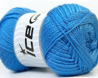 balls of acrylic yarn in 100grs brand ICE blue color