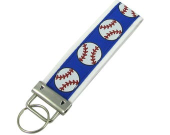 Personalized Key Chain / Key Fob Baseballs with Optional Initials