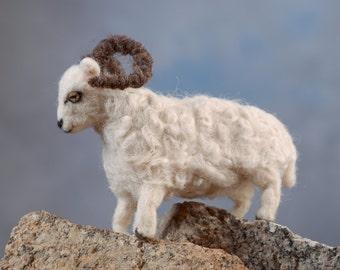 Ram wool felted handmade animal