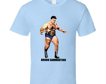 Cool Classic Legendary Wrestler Bruno Sammartino Wrestling T Shirt