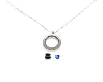 Thin Blue Line, Police Officer, Police Wife, Female Police, Police Girlfriend, Anniversary Gift, Police Wedding, Police Jewelry, Police Gift