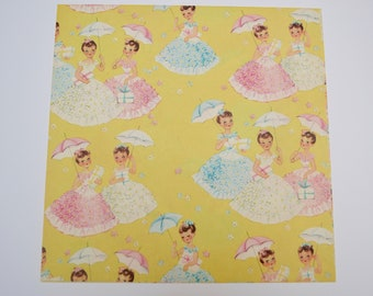 Vintage Gift Wrap: Shower or Birthday Party Wrapping Paper