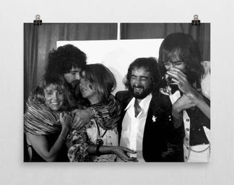Fleetwood Mac Poster - 70's Music Poster -Black And White - Stevie Nicks - Semi-Gloss Photo Paper Poster