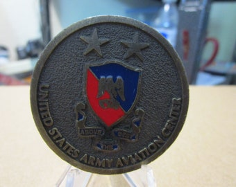 United States Army Aviation Centre Commanding General Challenge Coin #4838