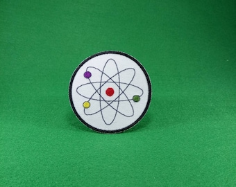 Atom Molecule - Science Symbol - Embroidery Iron on Patch