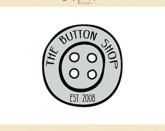 Premade Logo & Watermark // The Button Shop // Handmade Business // Solipandi Design Studio // #010