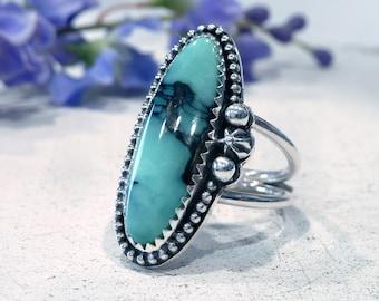 Variscite Ring - Größe 6,5-6,75 Sterling Silber sofort lieferbar