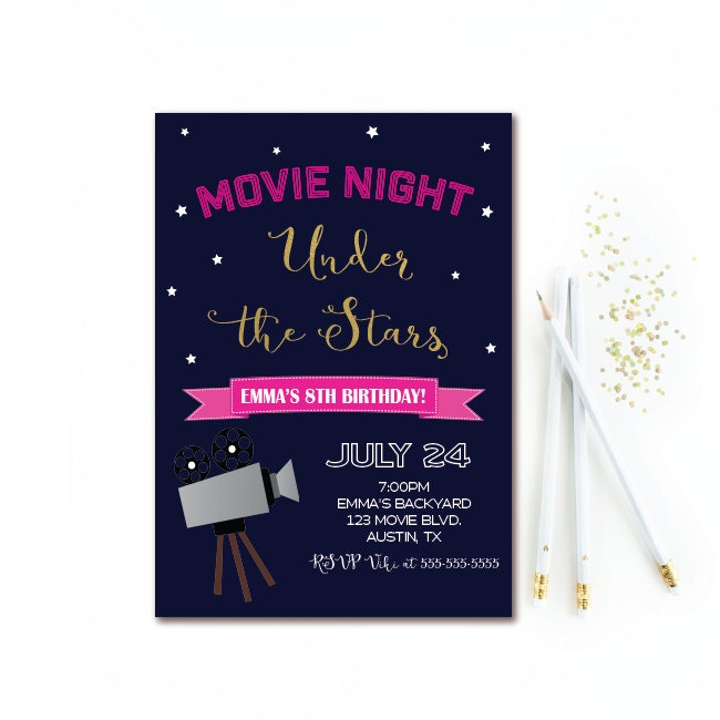 movie night party invitations akba greenw co