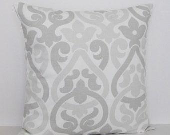 Gray White Geometric Pillow Cover Decorative Throw Accent Toss Pillow 16x16 18x18 20x20 22x22 12x16 12x18 12x20 14x22 Dove French Zipper