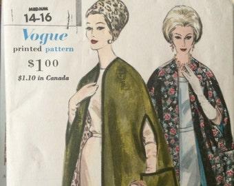 ON SALE Rare,Wonderful Vintage Reversible Cape Pattern---Vogue 5176---Size 14-16---UNCUT