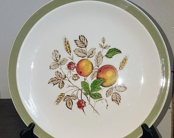 Vintage Alfred Meakin Hereford 1950s Salad Plates green band peaches raspberries vintage dinnerware china replacement : meakin dinnerware - Pezcame.Com