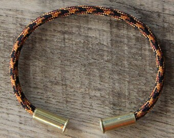 BRZN Recycled .22lr Bullet Casing Harvest Camo 550 Paracord Bracelet