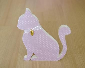 wooden decorative cat