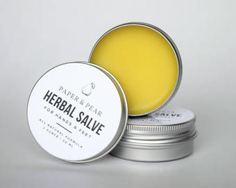 Natural Herbal Salve for Hands and Feet
