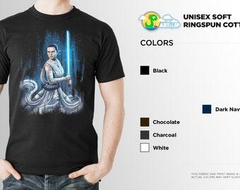 Star Wars Rey Shirt | The Force Awakens | PREMIUM QUALITY | Daisy Ridley | Lightsaber | Jedi | Geek Clothing | T-Shirt | Geek Tee | Gift